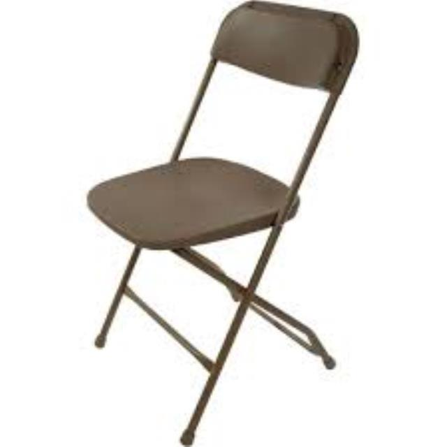 Where to find CHAIR BROWN PLASTIC in Garland