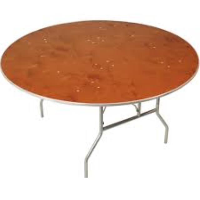 Where to find TABLE 48  ROUND WOOD in Garland