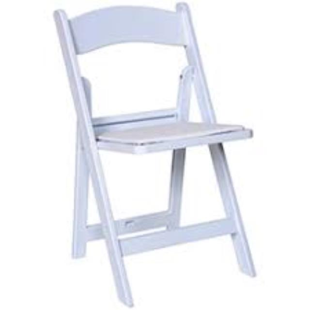 Where to find CHAIR WHITE FIBERGLASS  LIKE WOOD in Garland