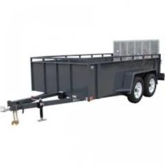 Rental store for TRAILER, 5 X12  W  SIDES  GREY in Garland TX