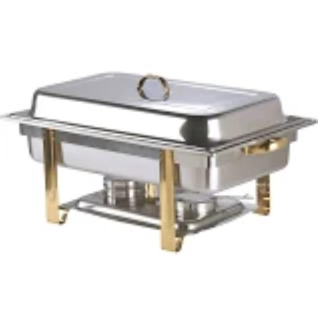Where to find CHAFER, 8 QT GOLD AND SILVER in Garland