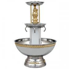 Where to find FOUNTAIN, 3 GAL SS GOLD TRIM in Garland